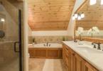 Master Bath Features Walk-in Shower w/ Dual Shower Heads