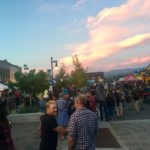 Photo from the beer garden at last week's Truckee Thursday - just look at that beautiful sunset in the background!